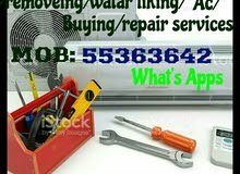 Selling fixing gass cleaning repairing