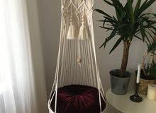 chaise macramé suspendue pour sallon
