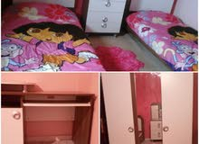 غرفة نوم اطفال للبيع في حالة ممتازة شبه جديده
