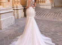 فستان زفاف للبيع ملبوس مرة واحدة فقط جديد
