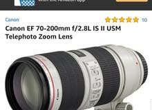 canon 70-200mm is ii usm  - mark 2  professional Lens