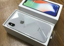 iphone x جديد 256GB لون ابيض سلفر
