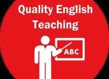 مدرس لغه إنجليزيه خبره طويله في التدريس لصفوف متوسط و   ثانوية وجامعة