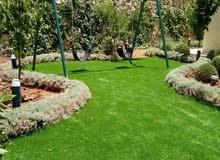 عشب صناعي لون اخضر فاخر
