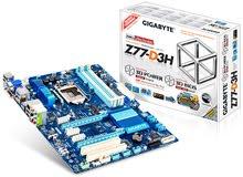 MotherBoard  Gigabyte Z77-D3H مع CPU Core I3-2120 3.3Ghz