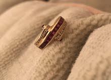 خاتم ذهب مع الماس و زمرد (اصلي)