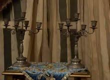 2 شمعدان إنجليزي قديم مختوم