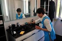 femme de ménage avec cuisine