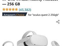 نظارة الواقع الافتراضي Oculus quest 2 256gb وملحقات اضافية