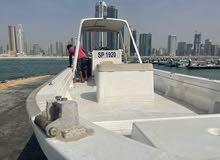 قارب صيد مستعمل بحالة جيدة مع محرك نوع سوزوكي 175 hp