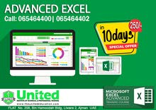 ADVANCED EXCEL COURSE IN AJMAN  065464400