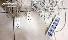 توصيلات أفياش كهربائية عدد:3 ، إثنتين بطول 3 متر ، و واحدة بطول 2 متر