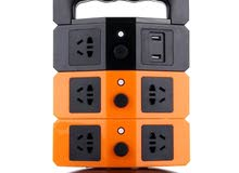 وصلات  كهرباء عامودية مع 4 مداخل USB
