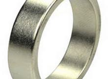 Neodymium Magnetic Rings Nickel Plated Size 19-mm x 23-mm x 6-mm 50 Pieces/Pack