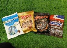 عبوات شوكولاته باونتي او مارس او تويكس او سنيكرز