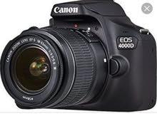 كاميرا كانون 4000 جديده بالضمان والكارتونه