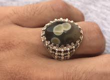 للبيع خاتم فضة جديدة