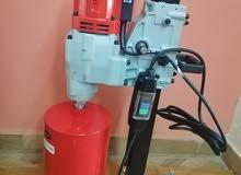 ماكينة كور ماشين 12 بوصة لتخريم الفتحات الاسطوانية الخرسانية