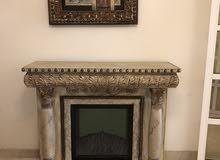 مدفأة خشبية ديكور للمنزل