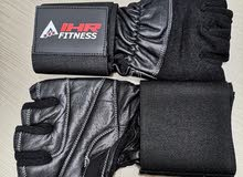 Leather Gym Gloves With Wrist Support Band Free Shipment