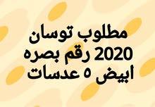مطلوب توسان 2020 رقم بصره ابيض 5 عدسات