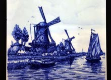 لوحات فنية صغيرة مرسومة على الواح السيراميك من هولندا