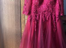 فستان سهرة للبيع مستعمل 3 ساعات فقط