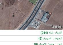 ارض للبيع 3 دونم  و872 متر طريق اربد جرش