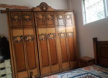 اغراض للبيع - طقم مورس زان بحالة جيدة وغرفة نوم نظيفة لاتيه وبوفيه للبيع،الزرقاء