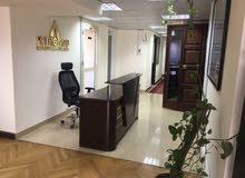 مكتب مفروش سوبر لوكس للايجار على شارع الدقى الرئيسى ميدان الدقى  140م