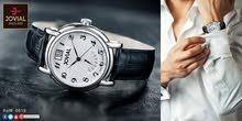 ساعة رجالية ماركة jovial صناعة سويسرية