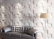 ديكور الواح فايبر ثلاثية الابعاد جدارية حديثة