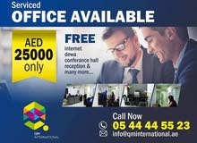 FULL FURNISHED OFFICE ROOM PARTITION AVAILABLE ONLY AED 27,000
