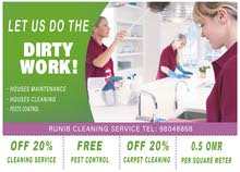 Houses maintanance, Houses cleaning, Pests control