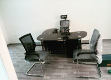 جديد بالكرتون مكتب خشب وزجاج اثاث مكتبي شامل