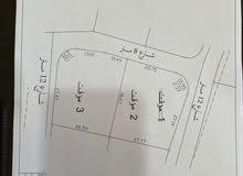 قطعتين سكن ب للبيع مساحة كل قطعه  دونم وخمسين متر