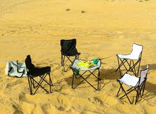 Foldable Chairs With Table Set of 5