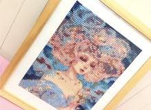 لوحة لفتاة من ( Diamond ) ( الالوان التي في الصورة تختلف عن الواقع)