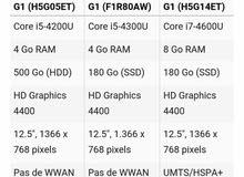 hp pc i7 4600  820 G1 8G Ram 260 SG  SSD mode in garemania