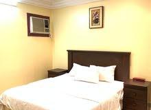 شقة مفروشة غرفتين وحمام ومطبخ اوفيس للايجار