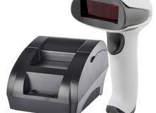 Barcode scanner + receipt printer