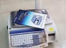 ميزان الكتروني مع طباعة باركود داتية مستعمل استعمال نظيف