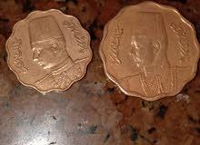 عملتان 10مليمات وعملة خمسة مليمات انسر عام 1938
