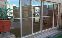 باب سحاب كبير زجاجي