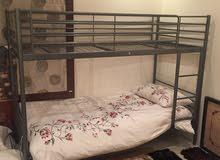 سرير ايكيا حديد دورين مستعمل بحالة ممتازة