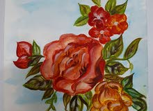 لوحه رسام بالالوان المائيه تحاكي الطبيعه