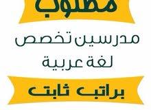 مطلوب مدرسين لغه عربيه