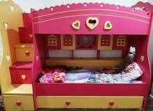 Bunk bed with mattress, excellent in condition