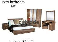 سرير خشبي (صنع في تايلاند) مع فراش للبيع