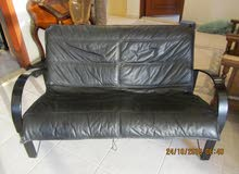 Leather Couch, Black for KD 40